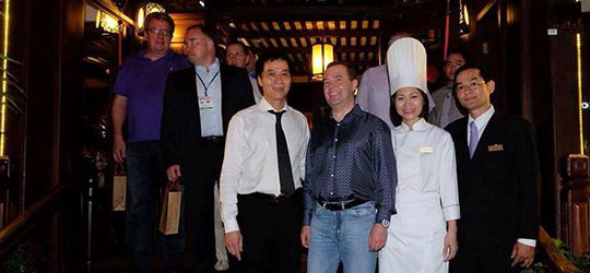 Mr. Dmitry Medvedev, Russian Prime Minister at Hoi An Restaurant