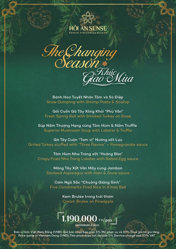 "Festive Menu ""Changing Season"""
